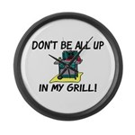 All Up In My Grill Large Wall Clock