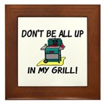 All Up In My Grill Framed Tile