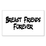Breast Friends Forever Sticker (Rectangle 50 pk)
