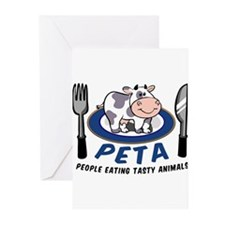 People Eating Tasty Animals Greeting Cards (Pk of