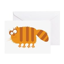 Loony Cat Greeting Card