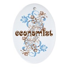Economist Gift Ornament (Oval)