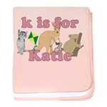 K is for Katie baby blanket