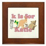 K is for Katie Framed Tile