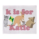 K is for Katie Throw Blanket