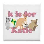 K is for Katie Tile Coaster