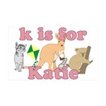K is for Katie 38.5 x 24.5 Wall Peel