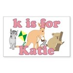 K is for Katie Sticker (Rectangle)