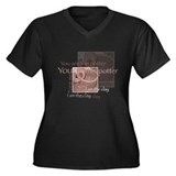 The Potter Women's Plus Size V-Neck Dark T-Shirt