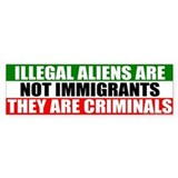 Illegal Means Criminal Bumper Bumper Stickers