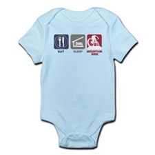 Eat Sleep Mountain Bike Infant Bodysuit