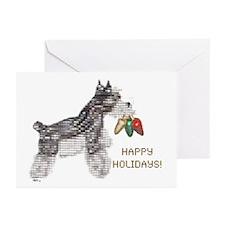 Schnauzer Happy Holidays Cards (Pk of 10)