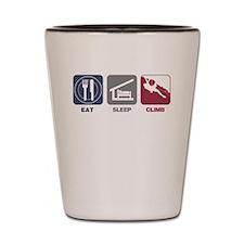 Eat Sleep Climb - Man Shot Glass