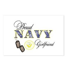 Proud Navy Girlfriend Postcards (Package of 8)