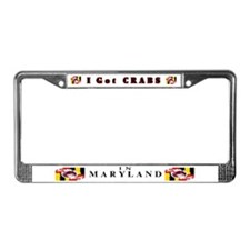 I Got Crabs in Maryland  License Plate Frame