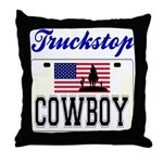 TRUCKSTOP COWBOY Throw Pillow
