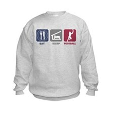Eat Sleep Football Sweatshirt