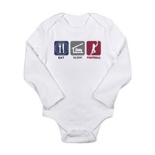 Eat Sleep Football Long Sleeve Infant Bodysuit