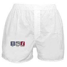 Eat Sleep Football Boxer Shorts