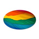 Pride Flag 38.5 x 24.5 Oval Wall Peel
