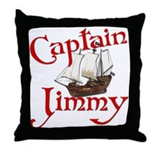 Captain Jimmy Throw Pillow
