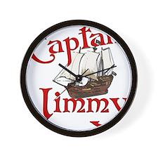 Captain Jimmy Wall Clock