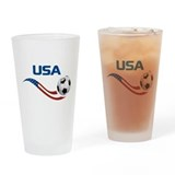 Soccer USA Pint Glass