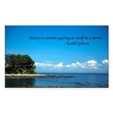 Gibran on Beauty Rectangle Decal