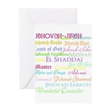 Names of God Greeting Card