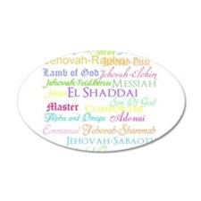 Names of God 22x14 Oval Wall Peel