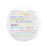 "Names of God 3.5"" Button"