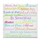 Names of God Tile Coaster