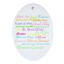 Names of God Ornament (Oval)