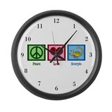 Peace Love Scorpio Large Wall Clock