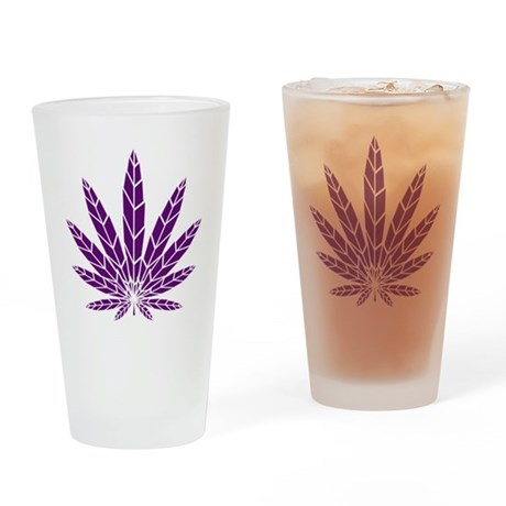 Purple Leaf Pint Glass