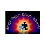 Beyond Awareness (Autism) Rectangle Magnet - Dark
