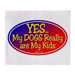 Yes Dog Kids Throw Blanket