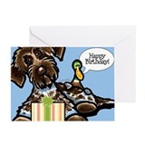 Funny Pointing Griffon Birthday Greeting Card