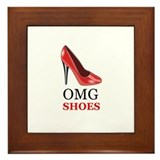 OMG shoes Framed Tile