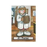 Nurse, Female - Rectangle Magnet