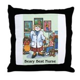 School Nurse, White Coat - Throw Pillow