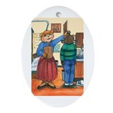 School Nurse, Blue Blouse - Oval Ornament