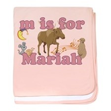 M is for Mariah baby blanket