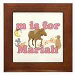 M is for Mariah Framed Tile