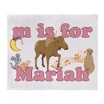 M is for Mariah Throw Blanket