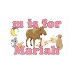 M is for Mariah 38.5 x 24.5 Wall Peel