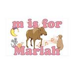M is for Mariah 38.5 x 24.5 Wall Peel