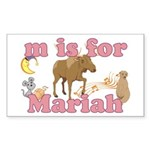 M is for Mariah Sticker (Rectangle)