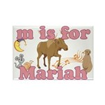 M is for Mariah Rectangle Magnet (10 pack)