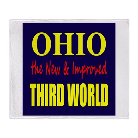 Ohio New 3rd World Throw Blanket